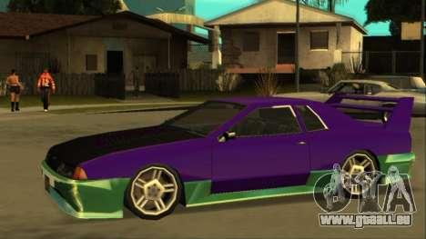 Luni Elegy FIXED pour GTA San Andreas sur la vue arrière gauche