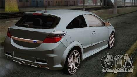 Opel Astra OPC Stock pour GTA San Andreas laissé vue