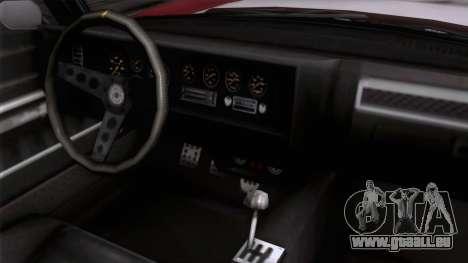 GTA 5 Invetero Coquette Classic HT pour GTA San Andreas vue de droite