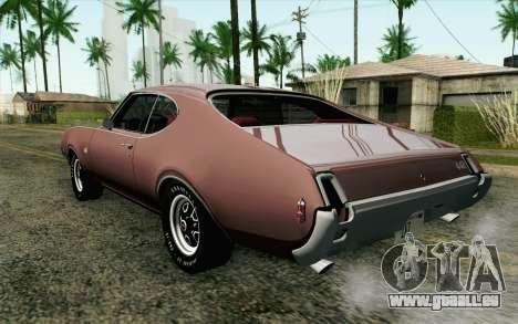 Oldsmobile 442 Holiday Coupe 1969 HQLM pour GTA San Andreas laissé vue
