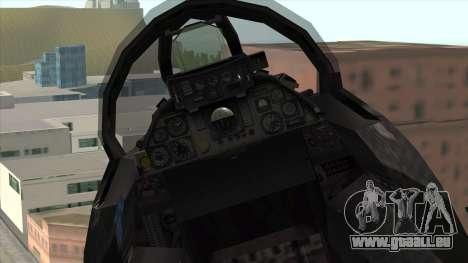 F-14 Neon Blue Macross Frontier für GTA San Andreas rechten Ansicht