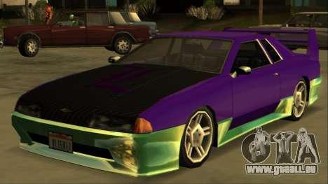 Luni Elegy FIXED pour GTA San Andreas vue arrière