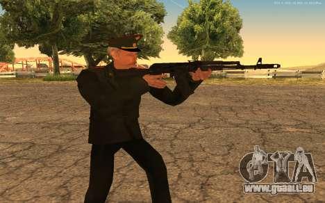 Colonel de l'armée russe pour GTA San Andreas cinquième écran