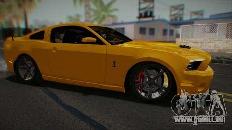 Ford Shelby GT500 2013 Vossen version pour GTA San Andreas laissé vue