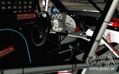 NASCAR Ford Fusion 2012 Plate Track pour GTA San Andreas vue de droite