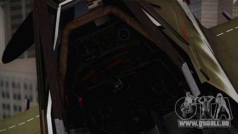 FW 190 D-11 Red 4 JV44 pour GTA San Andreas vue arrière