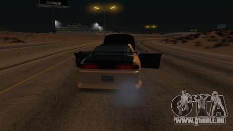 Toyota Mark II pour GTA San Andreas vue de dessous