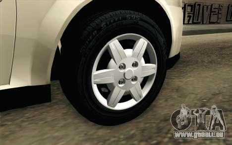 Chevrolet Classic pour GTA San Andreas sur la vue arrière gauche