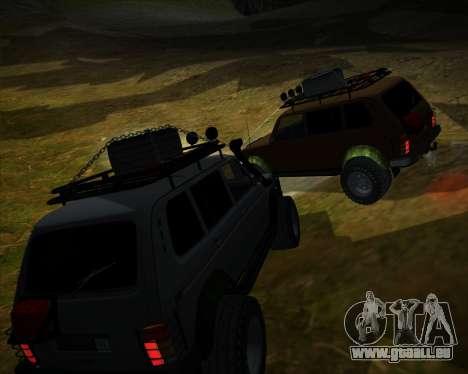 VAZ 2131 Niva 5D OffRoad pour GTA San Andreas vue de côté
