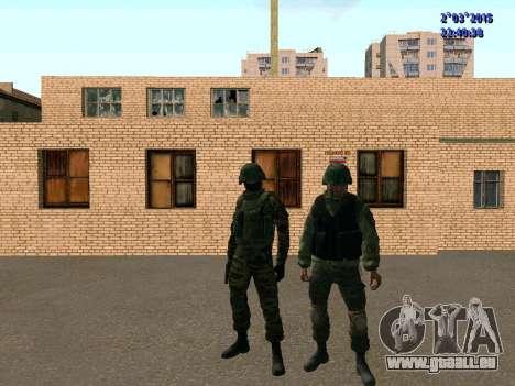 Guerrier bataillon à l'Est pour GTA San Andreas cinquième écran