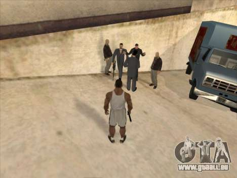 Les Russes dans le quartier Commercial pour GTA San Andreas deuxième écran