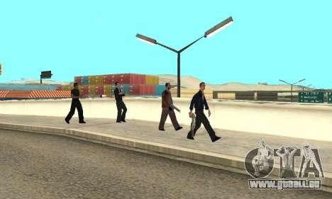 Ändern Bereichen der Banden und Ihre Waffen v1.1 für GTA San Andreas siebten Screenshot