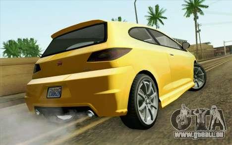 GTA V Dinka Blista IVF pour GTA San Andreas laissé vue