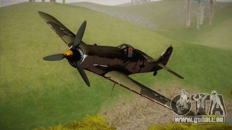 FW 190 D-11 Red 4 JV44 pour GTA San Andreas
