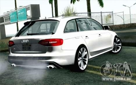Audi S4 Avant 2013 pour GTA San Andreas laissé vue
