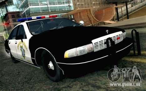 Chevy Caprice SAHP SAPD Highway Patrol v1 pour GTA San Andreas