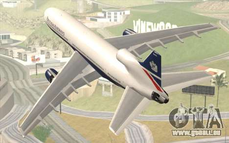 Lookheed L-1011 British Airways für GTA San Andreas linke Ansicht