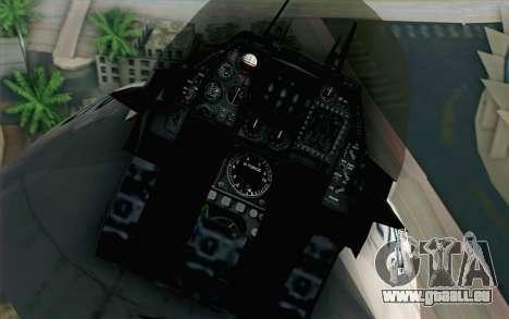 Mitsubishi F-2 White JASDF Skin für GTA San Andreas Rückansicht