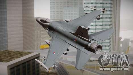 F-16 Fighting Falcon RNLAF pour GTA San Andreas laissé vue