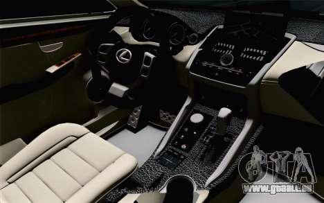 Lexus NX 200T v5 pour GTA San Andreas vue de droite