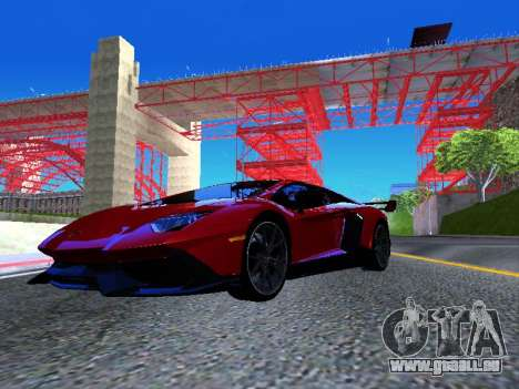 Lamborghini Aventador Novitec Torado für GTA San Andreas rechten Ansicht