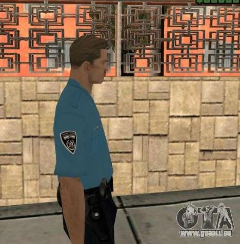 Israeli Police Officer pour GTA San Andreas troisième écran
