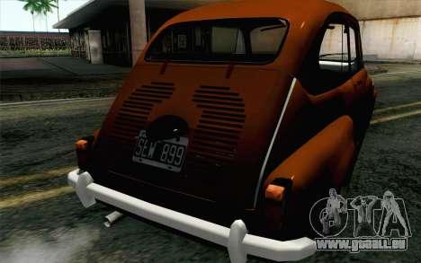 Fiat 600 pour GTA San Andreas vue arrière