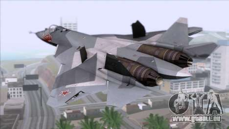 Sukhoi T-50 PAK FA Akula with Trinity für GTA San Andreas linke Ansicht