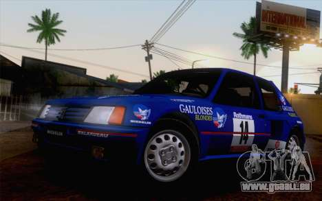 Peugeot 205 Turbo 16 1984 [IVF] pour GTA San Andreas salon