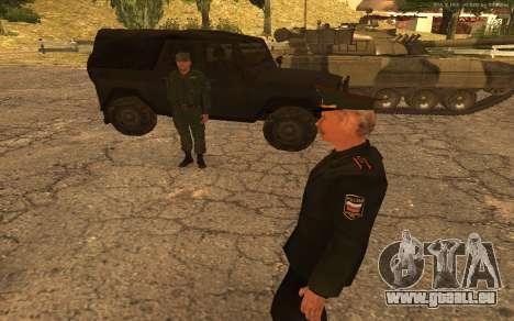 Colonel de l'armée russe pour GTA San Andreas sixième écran