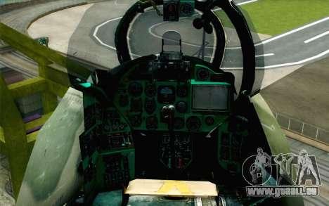 Mi-24D Polish Air Force für GTA San Andreas Rückansicht