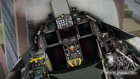 F-16 Fighting Falcon RNLAF für GTA San Andreas Rückansicht