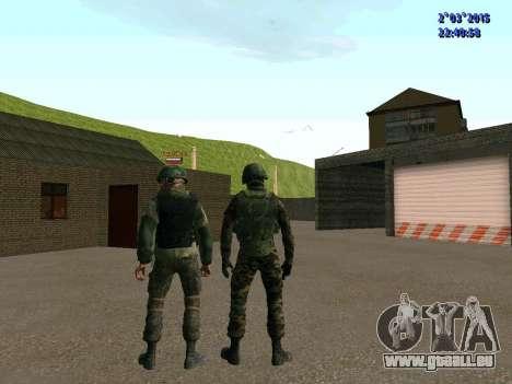 Guerrier bataillon à l'Est pour GTA San Andreas sixième écran
