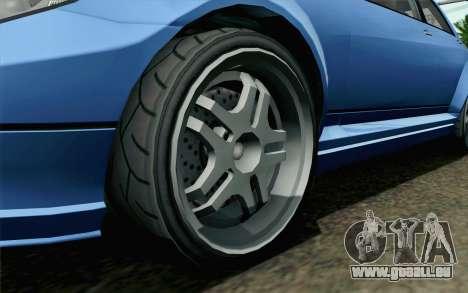 GTA 5 Benefactor Schafter pour GTA San Andreas sur la vue arrière gauche