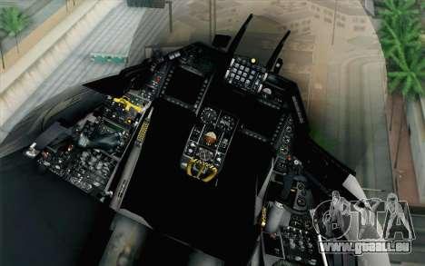 F-16 Fighting Falcon RNoAF PJ pour GTA San Andreas vue arrière