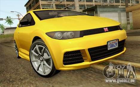 GTA V Dinka Blista IVF pour GTA San Andreas vue arrière