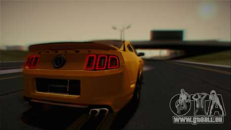 Ford Shelby GT500 2013 Vossen version für GTA San Andreas obere Ansicht