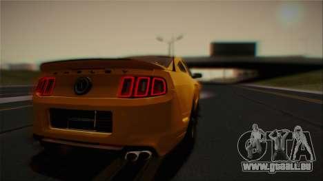 Ford Shelby GT500 2013 Vossen version pour GTA San Andreas vue de dessus