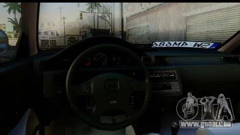 Honda Civic EG6 pour GTA San Andreas vue arrière