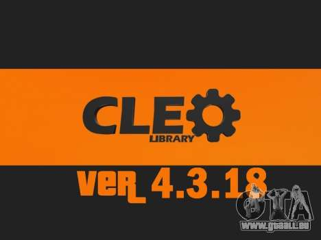 CLEO v4.3.18 UPDATE pour GTA San Andreas