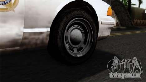 GTA 5 Vapid Stanier Sheriff pour GTA San Andreas sur la vue arrière gauche