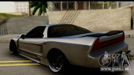 Honda NSX Street Killer pour GTA San Andreas laissé vue