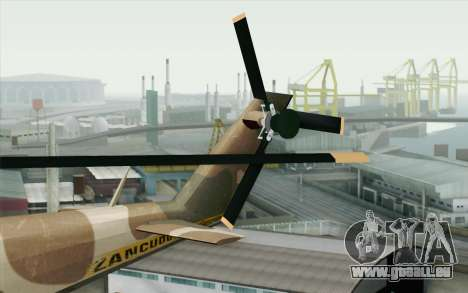Savage GTA 5 v1.2 pour GTA San Andreas sur la vue arrière gauche