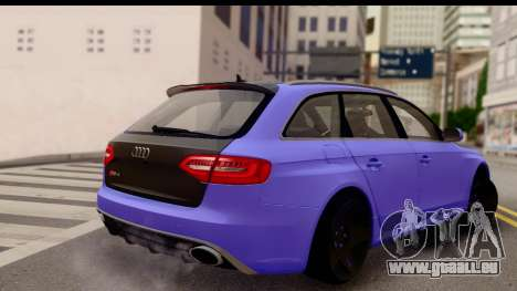Audi RS4 pour GTA San Andreas laissé vue