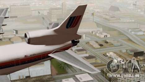 Lookheed L-1011 United Als für GTA San Andreas zurück linke Ansicht