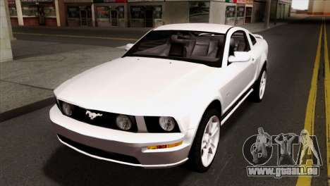 Ford Mustang GT PJ Wheels 1 pour GTA San Andreas vue intérieure