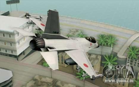 Mitsubishi F-2 White JASDF Skin für GTA San Andreas linke Ansicht