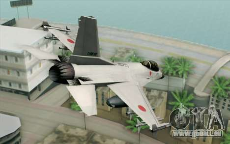 Mitsubishi F-2 White JASDF Skin pour GTA San Andreas laissé vue