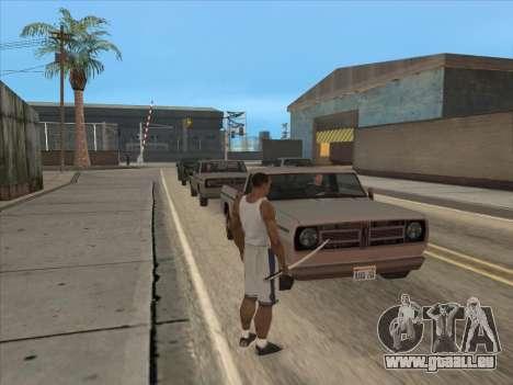 Les Russes dans le quartier Commercial pour GTA San Andreas troisième écran