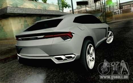 Lamborghini Urus Concept für GTA San Andreas linke Ansicht